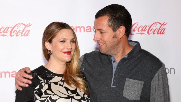 Female Star of the Year award winner, actress Drew Barrymore (L) and Male Star of the Year award winner, actor Adam Sandler arrive at The CinemaCon Big Screen Achievement Awards during CinemaCon, the official convention of the National Association of Theatre Owners, at The Colosseum at Caesars Palace on March 27, 2014 in Las Vegas -- Getty Images