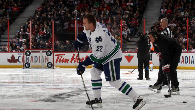 Daniel Sedin #22 Of The Vancouver Canucks And Team Alfredsson Takes Getty Images