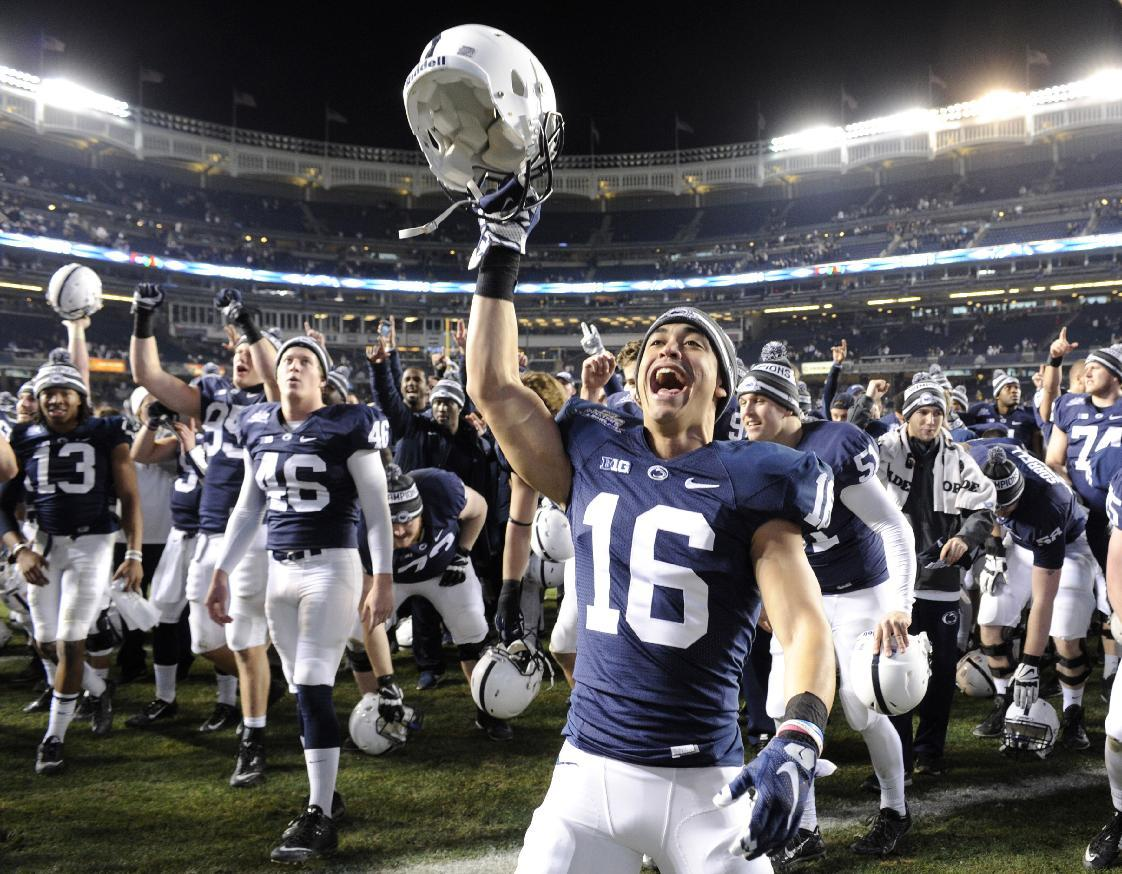 Penn State tops Boston College 31-30 in OT in Pinstripe Bowl