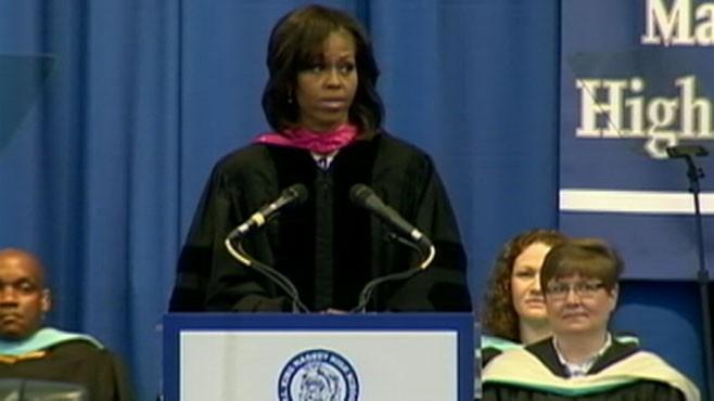 Michelle Obama Gives High School Students Life Advice