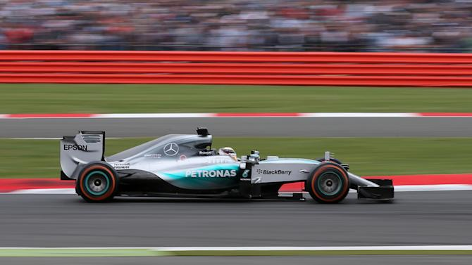 CAR: Mercedes' Lewis Hamilton in action during the race