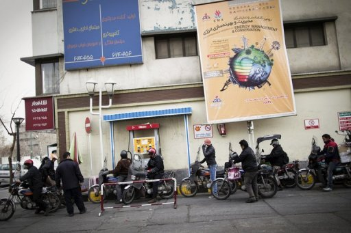 &lt;p&gt;File picture shows Iranians lining up at a petrol station in central Tehran. Sanctions-hit Iran on Saturday blasted fellow OPEC members Saudi Arabia, Kuwait and the United Arab Emirates as oil quota &quot;violators&quot;, accusing them of depressing global crude prices by over-pumping.&lt;/p&gt;