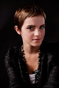 Emma Watson shortly after her new cut.