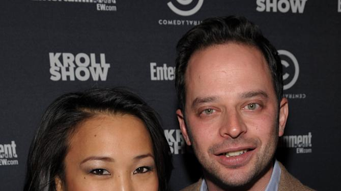 "Actress Tina Huang, left, and actor/comedian Nick Kroll attend an exclusive screening of Comedy Central's ""Kroll Show"" hosted by Entertainment Weekly on Tuesday, January 15, 2013 at LA's Silent Movie Theatre in Los Angeles. (Photo by John Shearer/Invision for Entertainment Weekly/AP Images)"