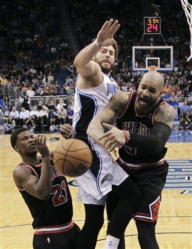 Boozer leads Bulls' bigs in 96-94 win over Magic
