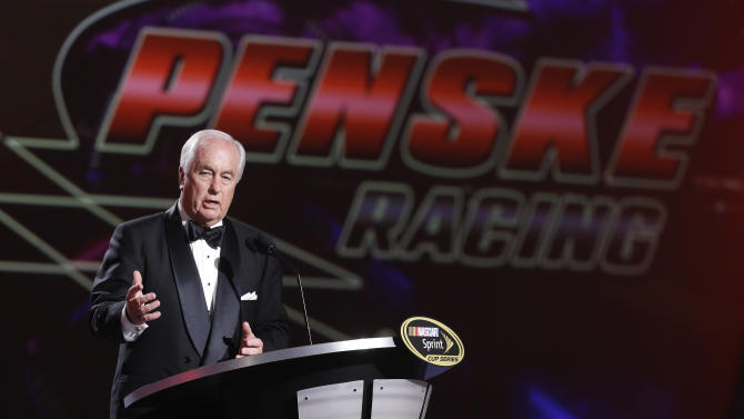 Penske Corporation and Penske Racing Team owner Roger Penske accepts the championship owner award during the season-ending NASCAR awards ceremony, Friday, Nov. 30, 2012 in Las Vegas. (AP Photo/Julie Jacobson)