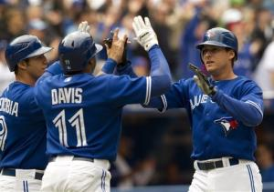 Encarnacion, Johnson homer as Blue Jays beat Texas