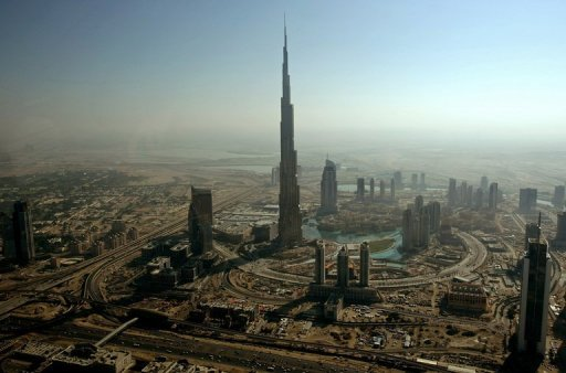 An aerial view shows Emaar Properties' Burj Dubai (C) in 2009, the world's tallest tower. Emaar Properties said on Sunday it posted an 82 percent surge in net profits in the first half of 2012 as retail and hospitality grew, costs fell and a write-off was not repeated