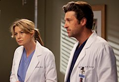 Grey's Anatomy, Ellen Pompeo and Patrick Dempsey  | Photo Credits: Randy Holmes/ABC