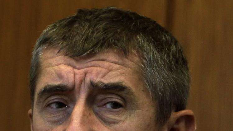 File picture of Babis at an interview in Prague