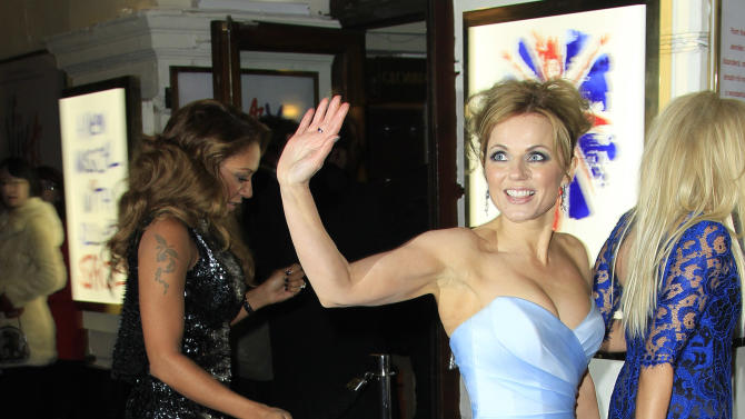 Geri Halliwell arrives for the press showing of Viva Forever!, a musical based on the songs of the Spice Girls, at a theater in central London, Tuesday, Dec. 11, 2012. (Photo by Joel Ryan/Invision/AP)