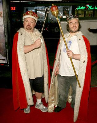 Kyle Gass and Jack Black at the Hollywood premiere of New Line's Tenacious D in: The Pick of Destiny