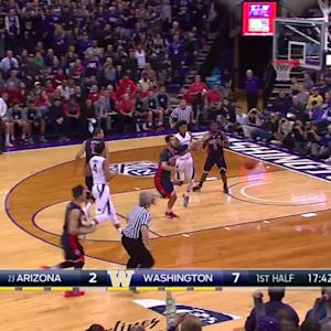 Highlights: No. 23 Arizona men's basketball rallies past Washington