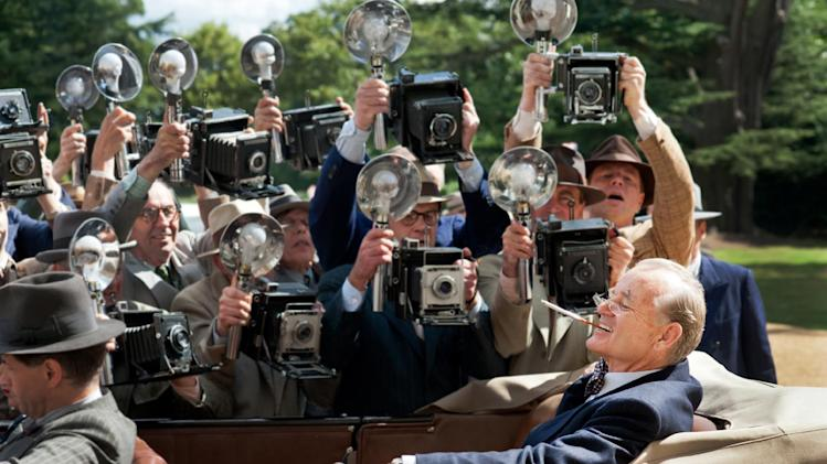 "This film image released by Focus Features shows Bill Murray as Franklin D. Roosevelt in a scene from ""Hyde Park on Hudson."" (AP Photo/Focus Features, Nicola Dove)"