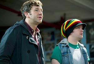 Chris O'Dowd and Tom Bennett | Photo Credits: Ray Burmiston/HBO