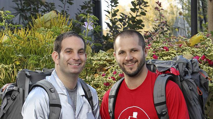 "Zev Glassenberg and Justin Kanew, Best Friends, race around the world for a second chance to win one million dollars, on ""The Amazing Race: Unfinished Business."""