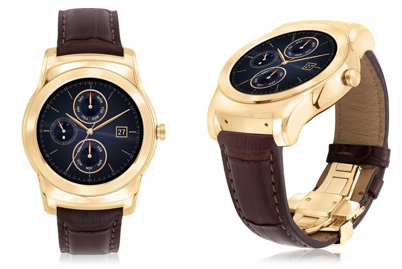 The LG Watch Urbane Luxe is a 23-karat gold smartwatch for $1,200