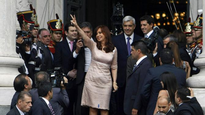Argentina's President Cristina Fernandez de Kirchner arrives for the opening session of the 133rd legislative term of Congress in Buenos Aires