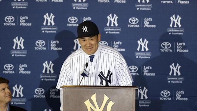 After chartering 787, Tanaka introduced by Yanks