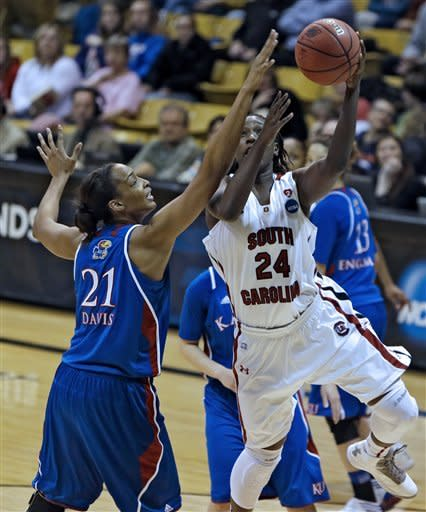 Kansas women top S Carolina in 2nd round at NCAAs