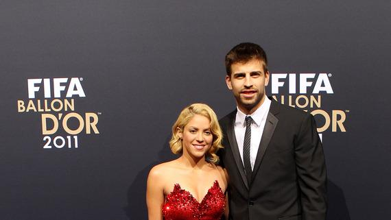 Gerard Pique Of Barcelona With Shakira Getty Images