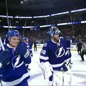 Lightning salute their fans after Game 7