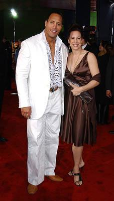The Rock , aka Dwayne Johnson, with wife Dany at the LA premiere of Universal's The Scorpion King