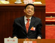 Disgraced Chinese leader Bo Xilai, seen in March 2012 when he was still Chongqing Party Secretary attending the National People's Congress at the Great Hall of the People in Beijing