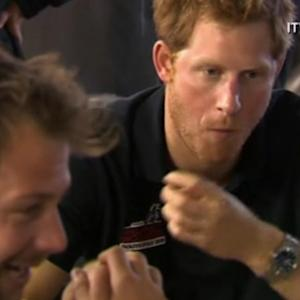 Prince Harry shares a meal with team mates ahead of Antarctica trek