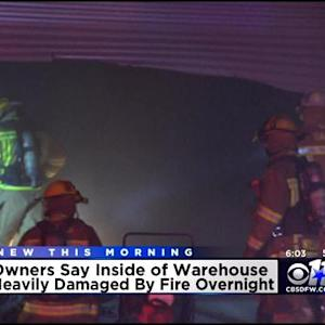 Crews Fight Fire At Dallas Uniform Warehouse