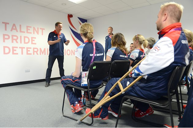 David Cameron Visits The Olympic Village Ahead Of The Paralympic Games