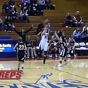Jessica Younker sinks half-court buzzer beater with back to basket