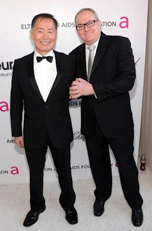 George Takei and Brad Takei attend the 21st Annual Elton John AIDS Foundation Academy Awards Viewing Party at West Hollywood Park on February 24, 2013 in West Hollywood, Calif. -- Getty Images