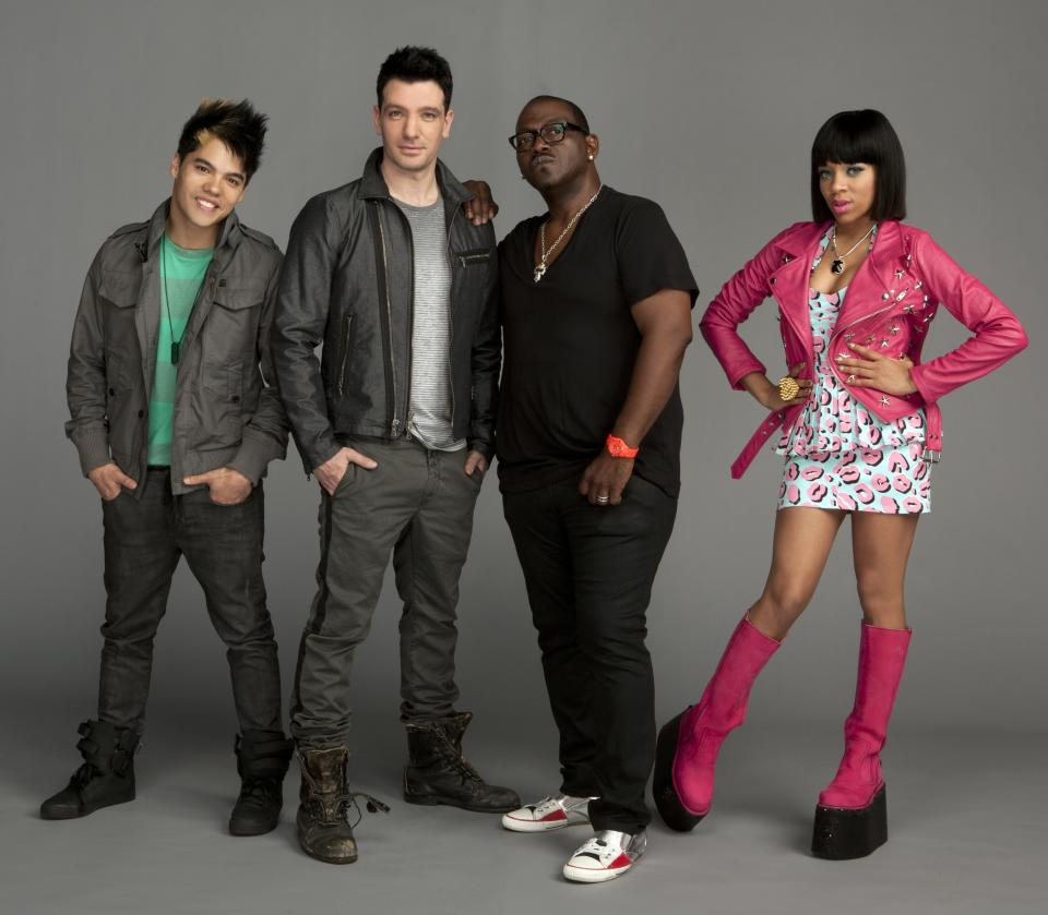 'America's Best Dance Crew' judges Dominic 'D-Trix' Sandoval, JC Chasez, Randy Jackson, and Lil Mama
