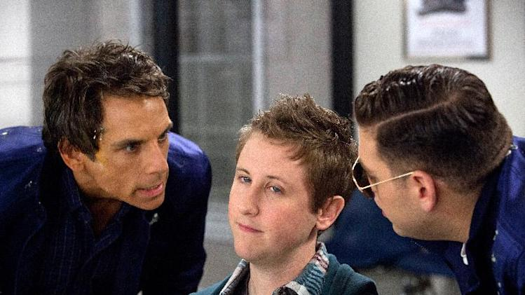 "This film image released by 20th Century Fox shows, from left, Ben Stiller, Johnny Pemberton and Jonah Hill in a scene from ""The Watch."" (AP Photo/20th Century Fox, Melinda Sue Gordon)"