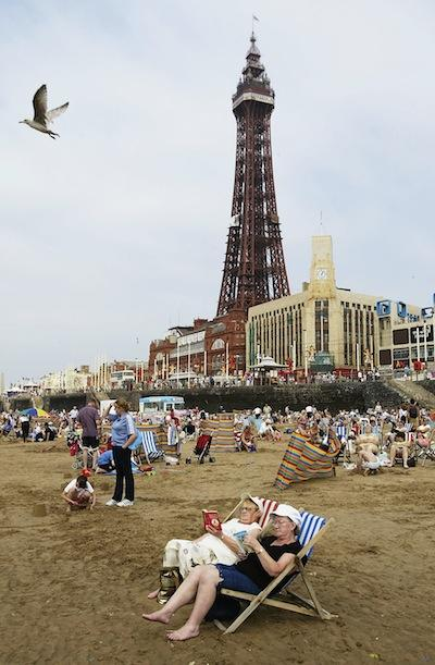 Blackpool beachgoers