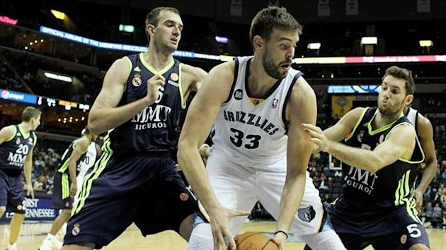Marc Gasol Memphis Grizzlies Real Madrid