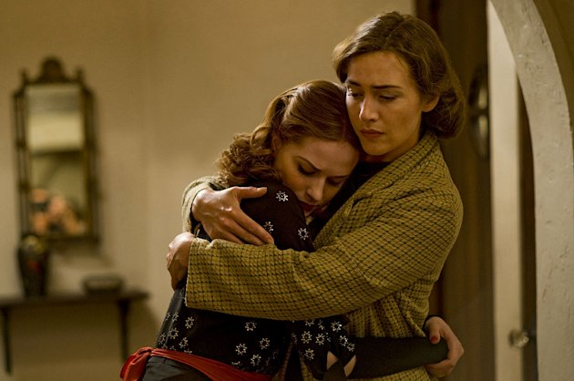 Evan Rachel Wood as Veda and Kate Winslet as Mildred in &quot;Mildred Pierce.&quot; 
