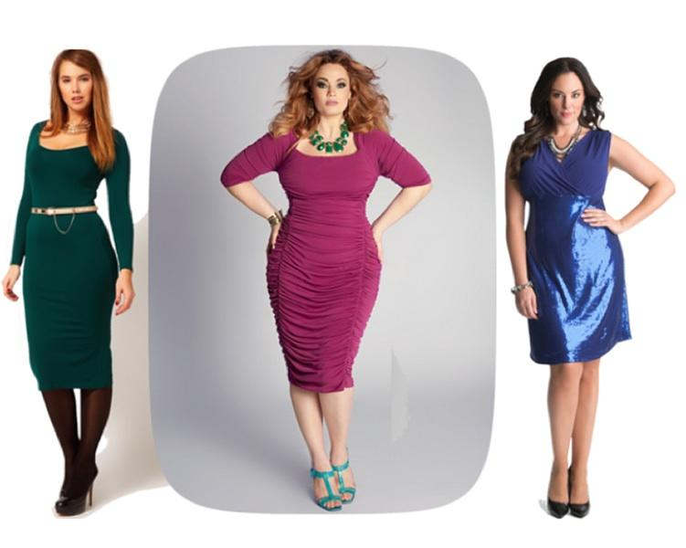 Plus Size - Let's say goodbye to basic, black, tent-like monstrosities this year, and HELLO! to form-fitting jewel-tones, shall we? Celebrate your curves by showing them off in a bold hue. Just rememb