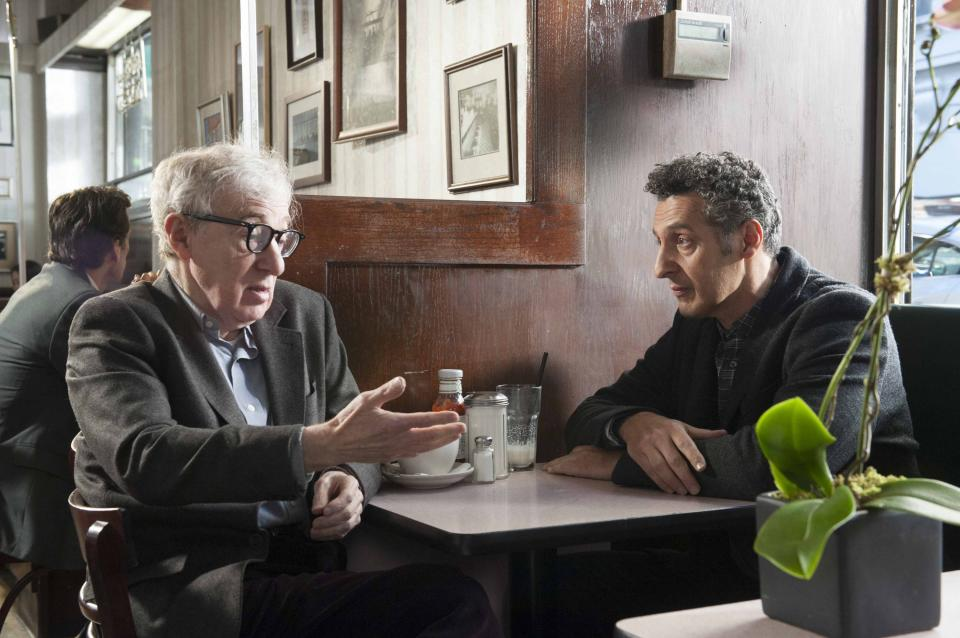 "This publicity image released by Toronto International Film Festival shows Woody Allen, left, and John Turturro in ""Fading Gigolo,"" a film being showcased at the Toronto International Film Festival. (AP Photo/Toronto International Film Festival)"