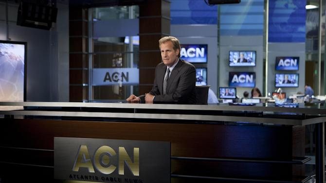 "This publicity image released by HBO shows Jeff Daniels portraying anchor Will McAvoy on the HBO series, ""The Newsroom,"" premiering Sunday, June 24, 2012 at 10 p.m. EST on HBO. (AP Photo/HBO, Melissa Moseley)"