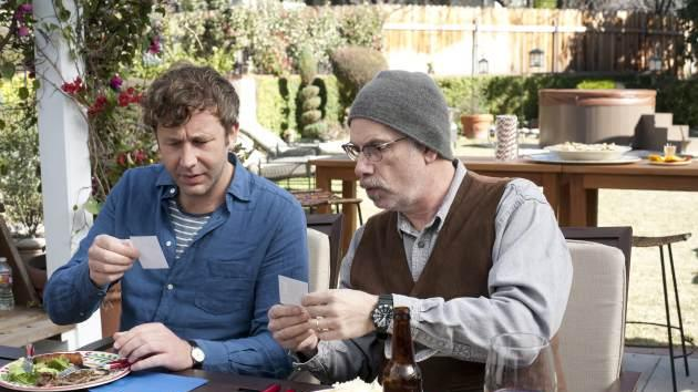 Chris O'Dowd and Christopher Guest on the 'Family Tree' set -- Suzanne Tenner/HBO