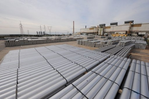 <p>A view of aluminium bars at the US aluminium company Alcoa's plant in Portovesme, some 70 kilometers from Cagliari on the Italian island of Sardinia in 2010. Aluminium maker Alcoa said it had began to close down its plant on the island of Sardinia in a move that will see hundreds of job losses.</p>