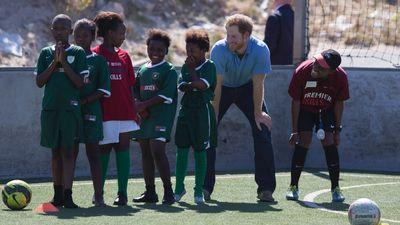 Prince Harry and His Beard Play Soccer