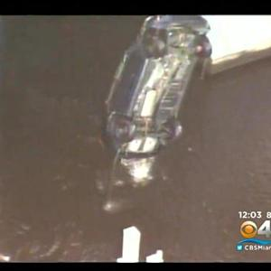 Car Drives Into Canal In Ft. Lauderdale