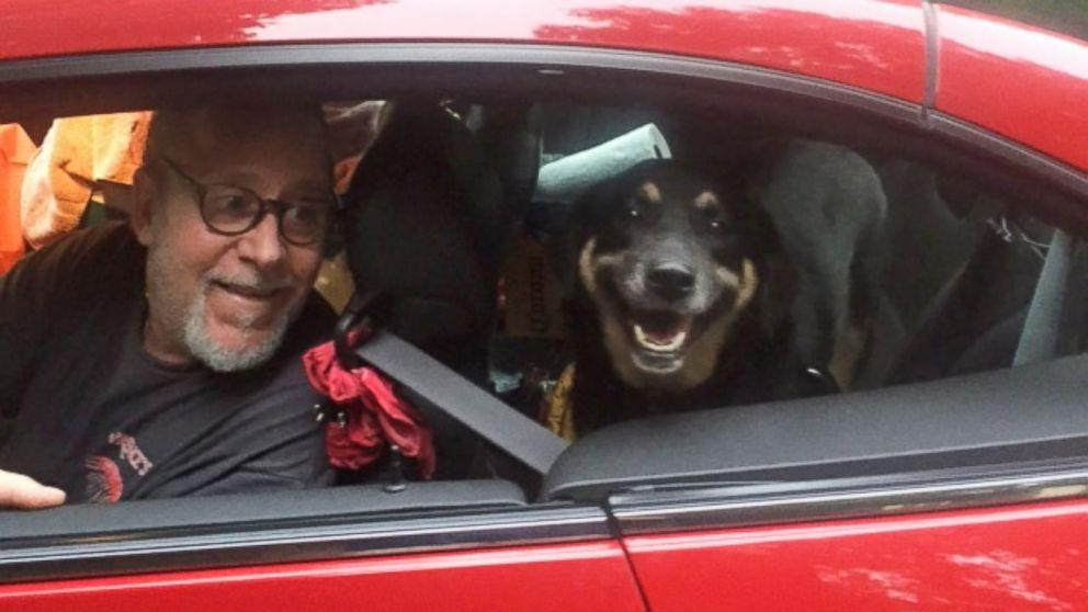 Dog Seen Chasing After Pickup Truck That 'Abandoned' It Gets New, Loving Home