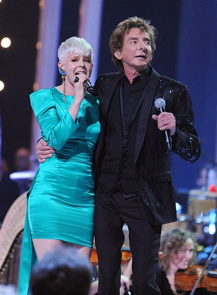 Performing at the Nobel Peace Prize Concert with Barry Manilow in 2010