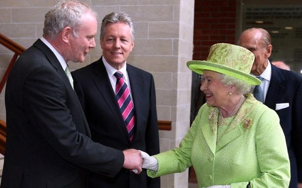 Queen Elizabeth Shakes Hands With a Former I.R.A. Leader