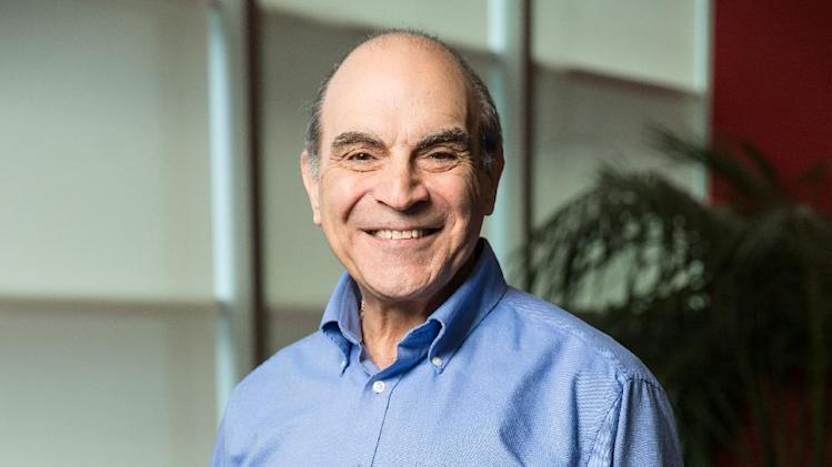 In this Friday, June 27, 2014 photo, David Suchet poses for a portrait during an interview in Los Angeles. Suchet returns as private detective Hercule Poirot in two episodes airing starting Sunday, July 27, 2014, on PBS and streaming on Acorn TV along with three additional new episodes. (Photo by Casey Curry/Invision/AP)