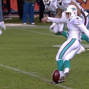 Miami Dolphins attempt soccer-style onside kick